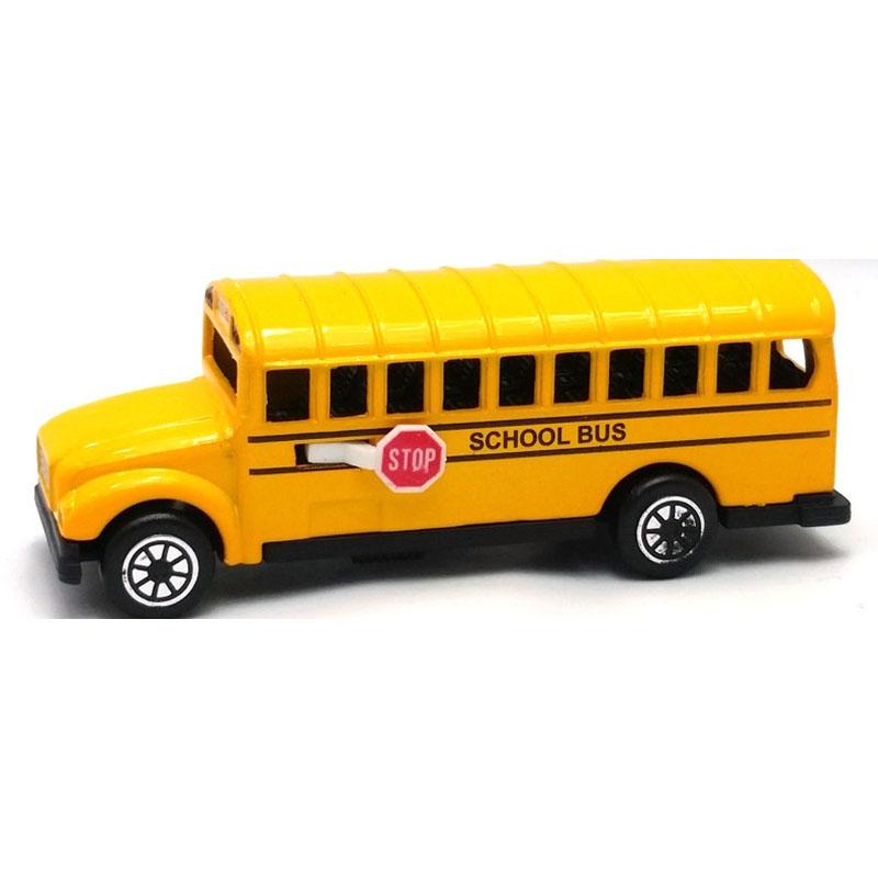 Σχολικό Λεωφορείο -  Μεταλλική μινιατούρα και ξύστρα 9cm