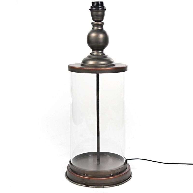 Vintage επιτραπέζιο φωτιστικό μέταλλο και γυαλί