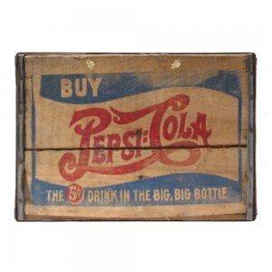 Pepsi Cola Vintage Ξύλινο Χειροποίητο Πινακάκι 20x30 εκ