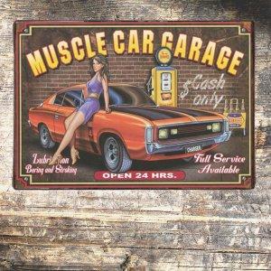 Vintage Ξύλινο Χειροποίητο Πινακάκι Garaze 20x30 εκ