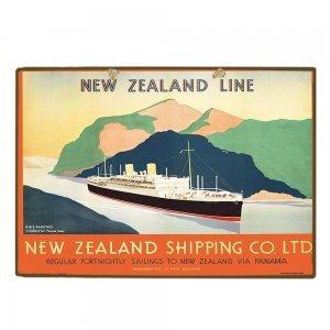 Vintage Ξύλινο Χειροποίητο Πινακάκι καράβι  20x30 εκ