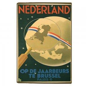 Nederland Vintage Ξύλινο Χειροποίητο Πινακάκι 30x20 εκ
