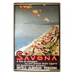 Savona Vintage Ξύλινο Χειροποίητο Πινακάκι 30x20 εκ
