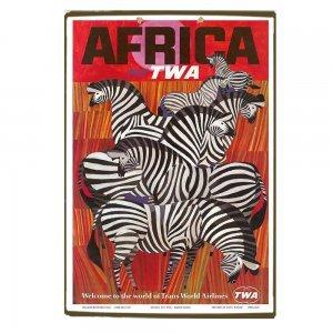Africa Twa - Zevres Vintage Ξύλινο Χειροποίητο Πινακάκι 30x20 εκ
