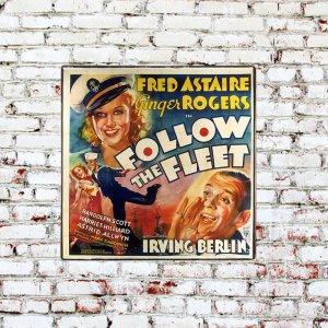 Αφίσα Παλιάς Ταινίας Vintage Ξύλινο Χειροποίητο Πινακάκι 3