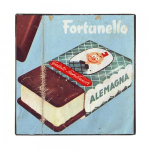 Vintage Ξύλινο Χειροποίητο Πινακάκι με σοκολάτα 32x32 εκ