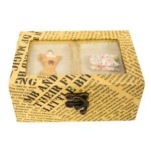 Ξύλινο κουτί ραπτικής με διακόσμηση 15Χ10Χ7cm