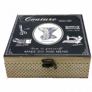Ξύλινο κουτί ραπτικής 20Χ20Χ7 εκ