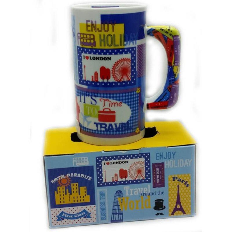 Retro κούπα για καφέ World Travel