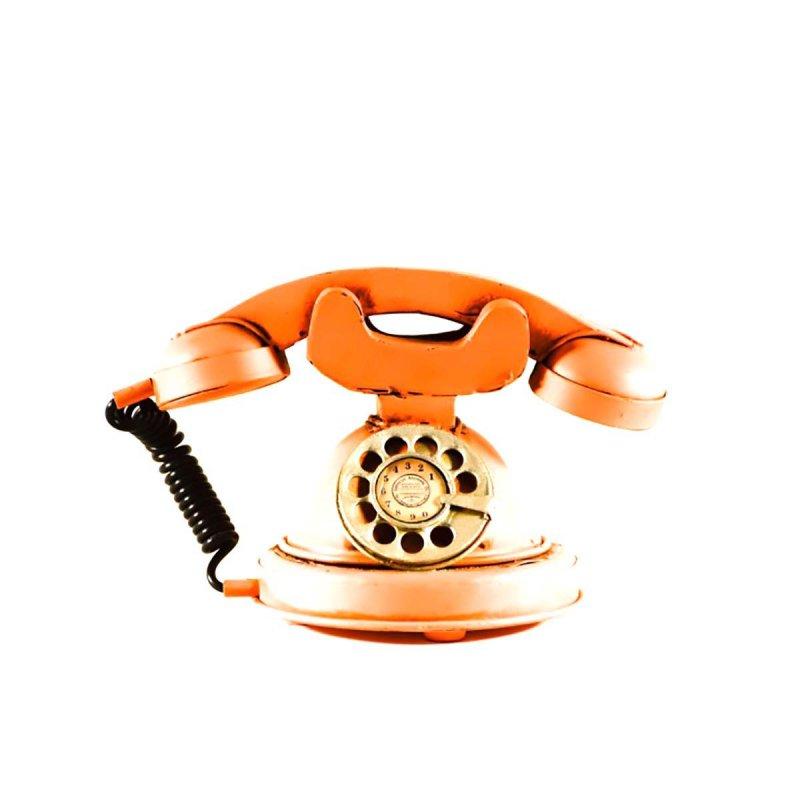 Vintage μεταλλικό διακοσμητικό τηλέφωνο σωμών