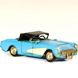 Μεταλλικό διακοσμητικό αυτοκίνητο γαλάζιο 27x11x8 εκ