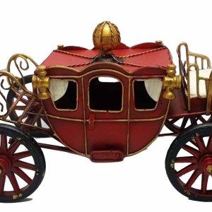 Vintage μεταλλική άμαξα Κόκκινη 32Χ17cm