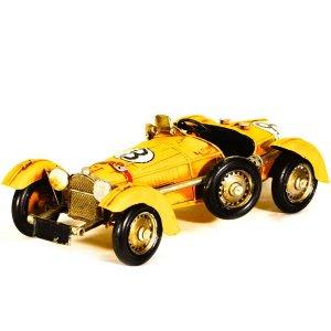 Vintage μεταλλικό αυτοκίνητο αγώνων 28Χ13cm
