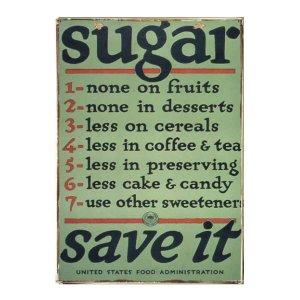 Vintage Πίνακας Χειροποίητος - Sugar Save It  20x30εκ