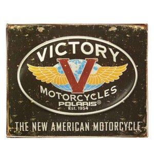 Vintage Πίνακας Χειροποίητος Victory Motorcycles 20x25 εκ