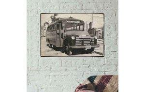 Vintage Πίνακας Χειροποίητος  ΚΤΕΛ Κοζάνης  20x30 εκ