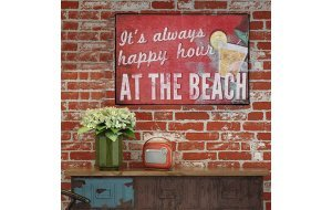 Vintage Πίνακας Χειροποίητος - Happy Hour at the beach 20x30 εκ
