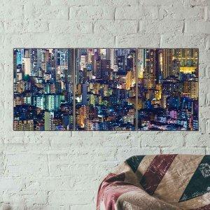 Ουρανοξύστες Τρίπτυχος Πίνακας Χειροποίητος - Δ&