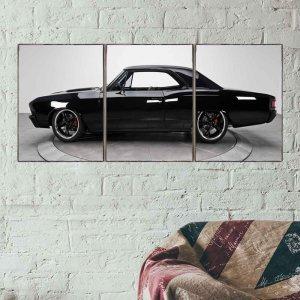 Muscle Car Τρίπτυχος Πίνακας Χειροποίητος - Διαστάσεις εώ&