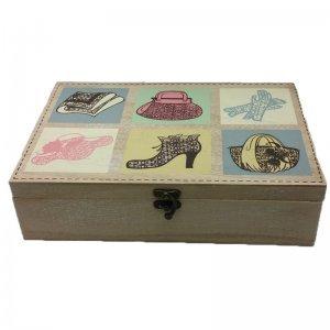 Ξύλινο κουτί ραπτικής με σχέδια 30Χ20Χ8 εκ