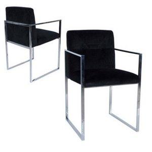 Πολυθρόνα βελούδινη μαύρη με μεταλλικά πόδια  55x55x81 ε&kappa