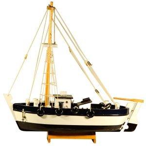 Ψαροκάικο Γρί Γρί ξύλινο λευκό και μαύρο 42cm