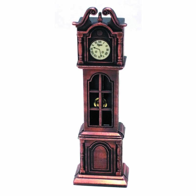 Vintage μεταλλική μινιατούρα ξύστρα ρολόι σε μπρονζέ χρώμα 10cm