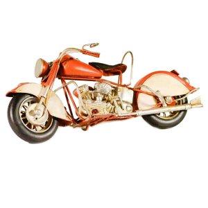 Μεταλλική διακοσμητική vintage μοτοσυκλέτα 27cm κόκκινη