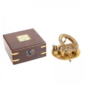 Διακοσμητική πυξίδα vintage σε κουτί 13x13x6 εκ