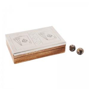 Κουτί με ζάρια και τράπουλες 18x12x4 εκ
