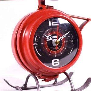 Επιτραπέζιο ρολόι ελικόπτερο μεταλλικό σε κόκκ&io