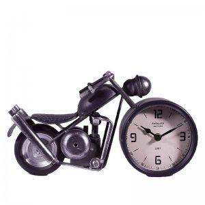 Ρολόι επιτραπέζιο ρετρό μηχανή σε μαύρο χρώμα από μέταλ&lam