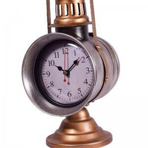 Retro επιτραπέζιο ρολόι φανάρι μεταλλικό 13x18x29 εκ