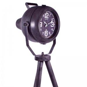 Επιτραπέζιο μεταλλικό vintage ρολόι προβολέας σε τρίπ&omicron