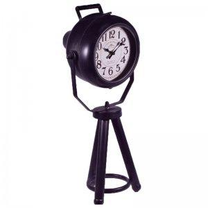 Vintage μεταλλικό ρολόι σε σχήμα προβολέα 26x23x55 εκ