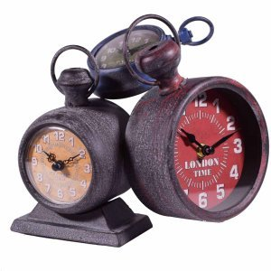 Τριπλό ρολόι επιτραπέζιο με 3 χρώματα 23x12x25 εκ