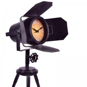 Επιτραπέζιο ρολόι προβολέας τρίποδο σε μαύρο χρώμ&alp