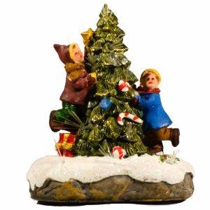 Δέντρο παιδάκια με φως 9x6x11εκ