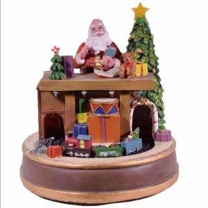 Τζάκι με Τρενάκι και Αλογάκι Χριστουγεννιάτικο διακοσμητικό 23x17x20 εκ