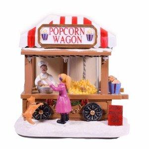 Ποπ Κορν wagon διακοσμητικό με LED Φωτισμό και Κίνηση 14x9,5x14,5εκ