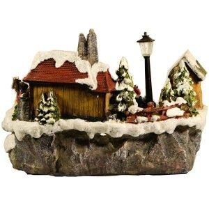 Χριστουγεννιάτικο σκηνικό πατινάζ διακοσμητικό 23x5x1