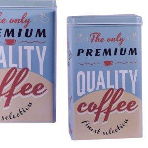 Σετ των δύο μεταλλικό κουτί για καφέ 15x9x20 εκ