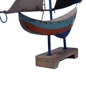 Διακοσμητικό καράβι μεταλλικό 54x9x71 εκ