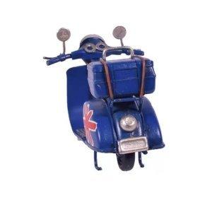 Βέσπα σε μπλε χρώμα διακοσμητική μεταλλική με λε&ups