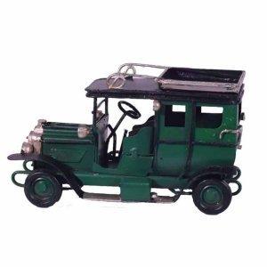 Πράσινη διακοσμητική μινιατούρα αντίκα αυτοκινήτου 11x5x6 εκ