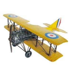 Διακοσμητικό κίτρινο αεροπλάνο 60x56x22 εκ