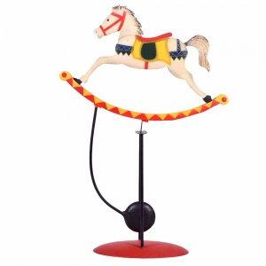Άλογο διακοσμητικό ισορροπιστής με μεταλική βά&sigma