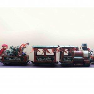 Χριστουγεννιάτικο διακοσμητικό βαγόνι τρένου Merry Christmas 31x16x20 εκ