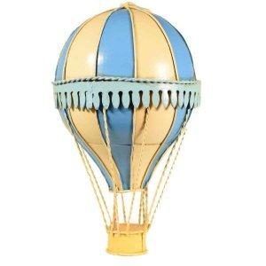 Μεταλλικό διακοσμητικό αερόστατο σιέλ με εκρού 20