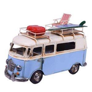 Λεωφορείο Βαν σε γαλάζιο χρώμα μεταλλικό 27x12x19 εκ